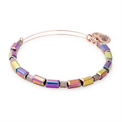 Alex and Ani Rose Gold Metallic Aurora Beaded Bangle
