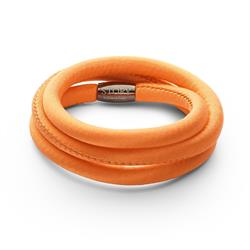 Buy Story Orange Silk Wrap Bracelet 57cm