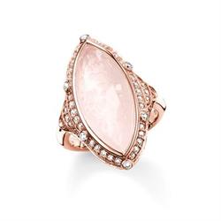 Purity of Lotus Rose Quartz Ring Size 54
