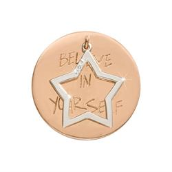 Rose Gold Believe in Yourself Medium Coin 33mm