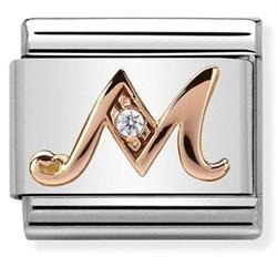 Buy Nomination Rose Gold CZ Letter M