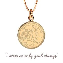 Attract Good Things Necklace in Gold