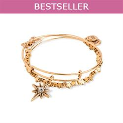 North Star Set of 2 bangles in Rafaelian Gold