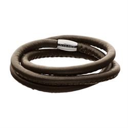 Buy Story Brown Lambskin Wrap Bracelet 54cm