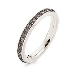 Folli Follie Match & Dazzle Grey Ring Size 52