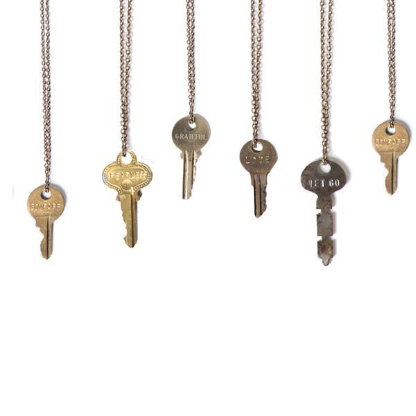 fearless classic brass 27 quot key necklace