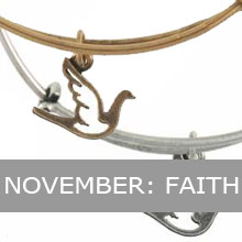 November - Alex and Ani dove, Faith