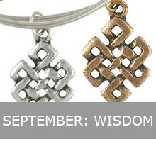 September - Alex and Ani Endless Knot, Wisdom