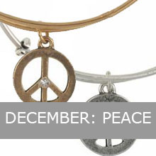 December - Alex and Ani Peace Bracelet, Balance