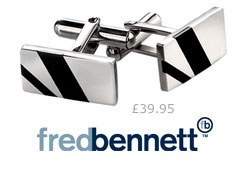 Fred Bennett Black Resin Cufflinks