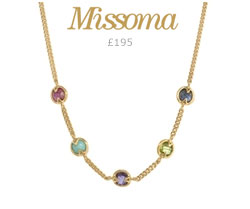 Missoma Gold Vermeil Hot Rox Multi Gemstone Necklace