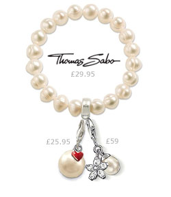 Thomas Sabo Freshwater Pearl Bracelet with Pearl Charms