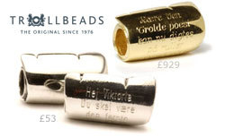 Trollbeads Scroll Bead Charms in Sterling Silver and 18ct Gold