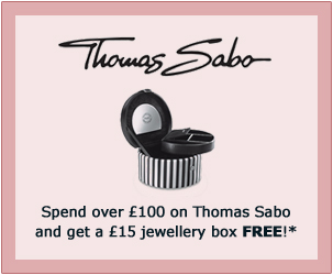 Spend over £100 on Thomas Sabo and get a £15 jewellery box FREE!*